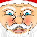 Square faced santa claus father christmas vector illustration Stock Photos