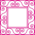 Square flower frame Stock Images