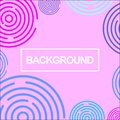 abstract pink square surrounded by random circle patterns