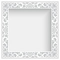 Square frame with cutout paper lace border