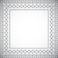 Square frame with ethnic pattern - Vector Royalty Free Stock Photo