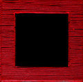 Square framed text box red black background rectangle field in abstract border composition Royalty Free Stock Photo