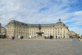 Square in front of the Place de la Bourse, Bordeaux, France Royalty Free Stock Photo