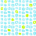 Square Funky Seamless Pattern Royalty Free Stock Photo