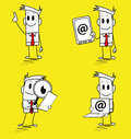 Square guy-mail Royalty Free Stock Images