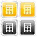 Square icon calculator Stock Image
