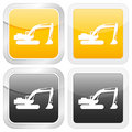 Square icon excavator Stock Images