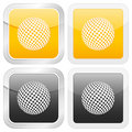 Square icon golf Stock Images