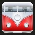 Square Icon Popular bus classic Camper Van