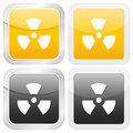 Square icon radiation sign Stock Images