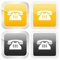 Square icon telephone Stock Photos