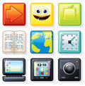 Square Icons #1 Stock Image