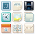 Square Icons #2 Royalty Free Stock Photography