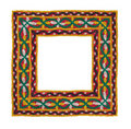 Square Isolated Textile Border Royalty Free Stock Image