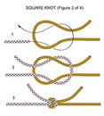 Square knot (illustration 2 of 4) Stock Photos