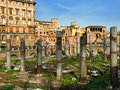 The square largo di torre argentina rome roman ruins at italy Stock Images
