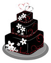 Square Layer Wedding Cake Royalty Free Stock Photos
