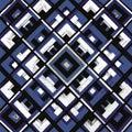 Square, mandala, hand drawn vector pattern. n