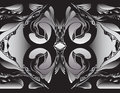 Square mandarin duck mandala that is a vector abstract illustration abstract and various shapes in a silver and black palette Stock Photography