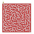 Square maze Stock Photo