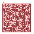 Square maze Royalty Free Stock Photo