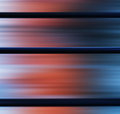 Square metallic panels with red blue light abstraction Royalty Free Stock Photo