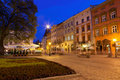 Square in old European town Lvov Royalty Free Stock Photo