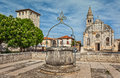 Square in old town Svetvincenat Royalty Free Stock Photo