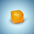 Square orange surreal image of a on a blue background Royalty Free Stock Photos
