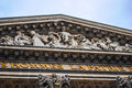 Square of the pantheon paris close up Stock Photo