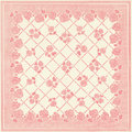 Square patchwork floral wallpaper design antique pink and ivory Royalty Free Stock Photo