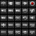 Square pressed Control panel buttons Royalty Free Stock Photography