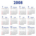 Square-ratio 2008 Calendar Royalty Free Stock Image