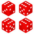 Square Red Dice Object Set Iso...