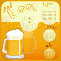 Square Retro Design Beer Menu Royalty Free Stock Image