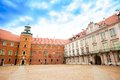 Square in royal castle warsaw at downtown capital of poland europe Royalty Free Stock Images