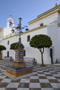 Square in a seville village marchena of the province of andalusia spain Royalty Free Stock Photo