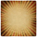 Square shaped sunburst ornated paper sheet. Royalty Free Stock Photo