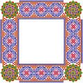 Square simple mandalas  photo frame Royalty Free Stock Photo