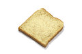 Square slice of fresh whole grain meal bread. Detailed bread texture Royalty Free Stock Photo