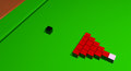Square snooker balls an impossible activity to master Royalty Free Stock Photos