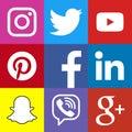Square social media logo or social media icon template set.
