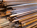 Square steel pipe Royalty Free Stock Photo