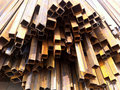 Square steel pipe rusty on the construction site Royalty Free Stock Images