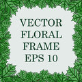 Square vector floral frame with the leaves of the maple