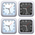 Square Wall Clock Set Stock Photos