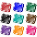 Square web buttons angled Stock Images