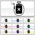 Square web buttons - Spray Royalty Free Stock Photo