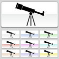 Square web buttons - Telescope Royalty Free Stock Photo