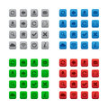 Square web buttons in various colors Stock Image